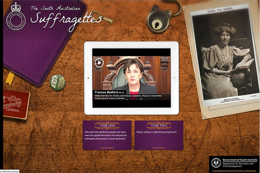 South Australian Suffragettes web-based inquiry